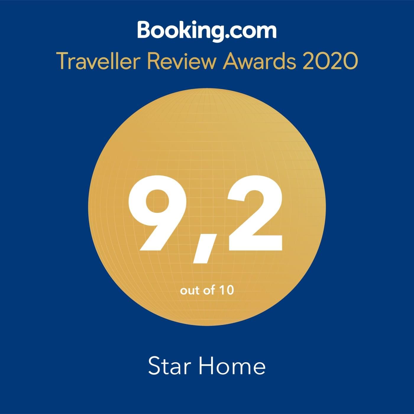 Награда от Booking 2020